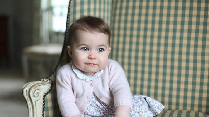 In this undated photo released Sunday Nov. 29, 2015, by Britain's Duke and Duchess of Cambridge, showing their daughter Princess Charlotte, at Anmer Hall in Sandringham, England.  Princess Charlotte was born May 2, 2015, and the photo was taken by her mother, Kate Duchess of Cambridge, during November 2015.  (Duchess of Cambridge via AP)