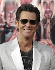 Actor Jim Carrey arrives at the world premiere of the feature film &quot;The Incredible Burt Wonderstone&quot; at the TCL Chinese Theatre on Monday, March 11, 2013 in Los Angeles. (Photo by Dan Steinberg/Invision/AP)