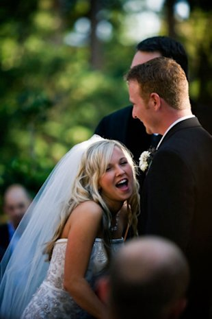We love this bride's enthusiasm during her vows!