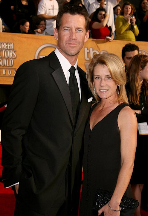 James Denton and wife Erin O'Brien at the 13th Annual Screen Actors Guild Awards.
