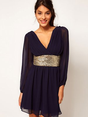 Party Dress with Sequin Band