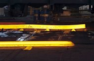 Steel ingots in a bloom mill designed to make 108-metre rails for the high-speed networks at Tata Steel France Rail plant. Indian steelmaking giant Tata Steel has arranged a $6.6 billion loan from a banking consortium to fund construction of a factory in eastern India, Dow Jones Newswires said on Monday