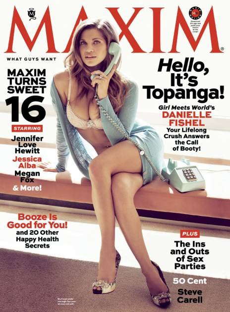 Danielle Fishel on Maxim April …