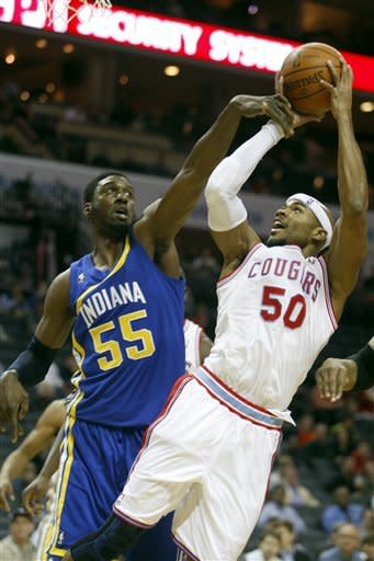 Pacers hand Bobcats another loss, 102-88