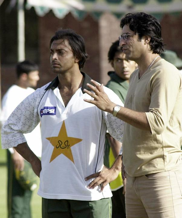 Shoaib Akhtar and Wasim Akram