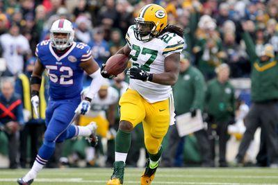 Eddie Lacy injury update: RB is active for Packers, fantasy owners, despite eye injury
