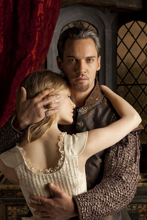 Tamzin Merchant as Katherine Howard and Jonathan Rhys Meyers as Henry VIII in &quot;The Tudors.&quot; 