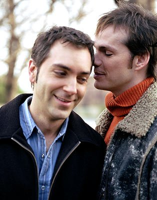 Scott Lowell as Ted and Peter Paige as Emmett Showtime's Queer As Folk