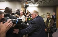 Toronto Mayor Rob Ford leaves a news conference with his wife Renata (R) at City Hall in Toronto, November 14, 2013. REUTERS/Mark Blinch
