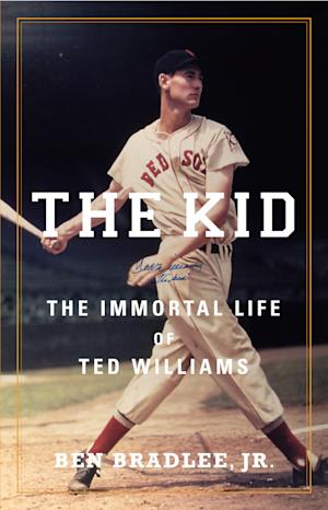 "This book cover image released by Little, Brown and Company shows ""The Kid: The Immortal Life of Ted Williams,"" by Ben Bradlee, Jr. (AP Photo/Little, Brown and Company)"