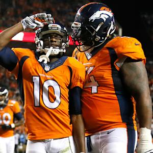Denver Broncos wide receiver Emmanuel Sanders catches third touchdown