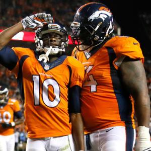 Denver Broncos wide receiver Emmanuel Sanders catches third touchdown