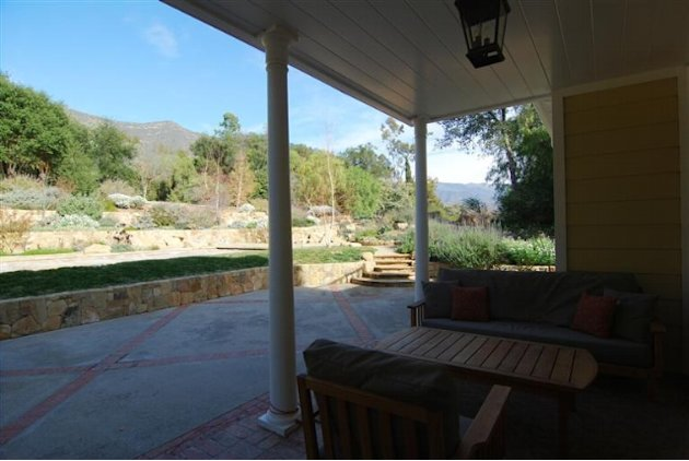 John Krasinski and Emily Blunt's new Ojai home outdoor seating
