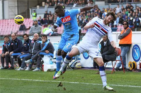 Napoli frustrated by Sampdoria