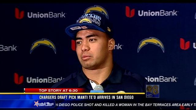 Chargers take Manti Te'o in 2nd round of NFL draft