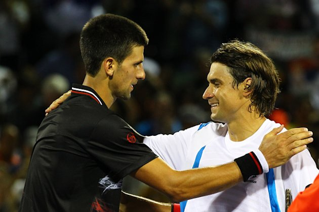 Novak Djokovic Of Serbia Greets Getty Images