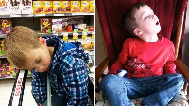 Dad Photographs Places His 4-Year-Old Has Managed to Fall Asleep