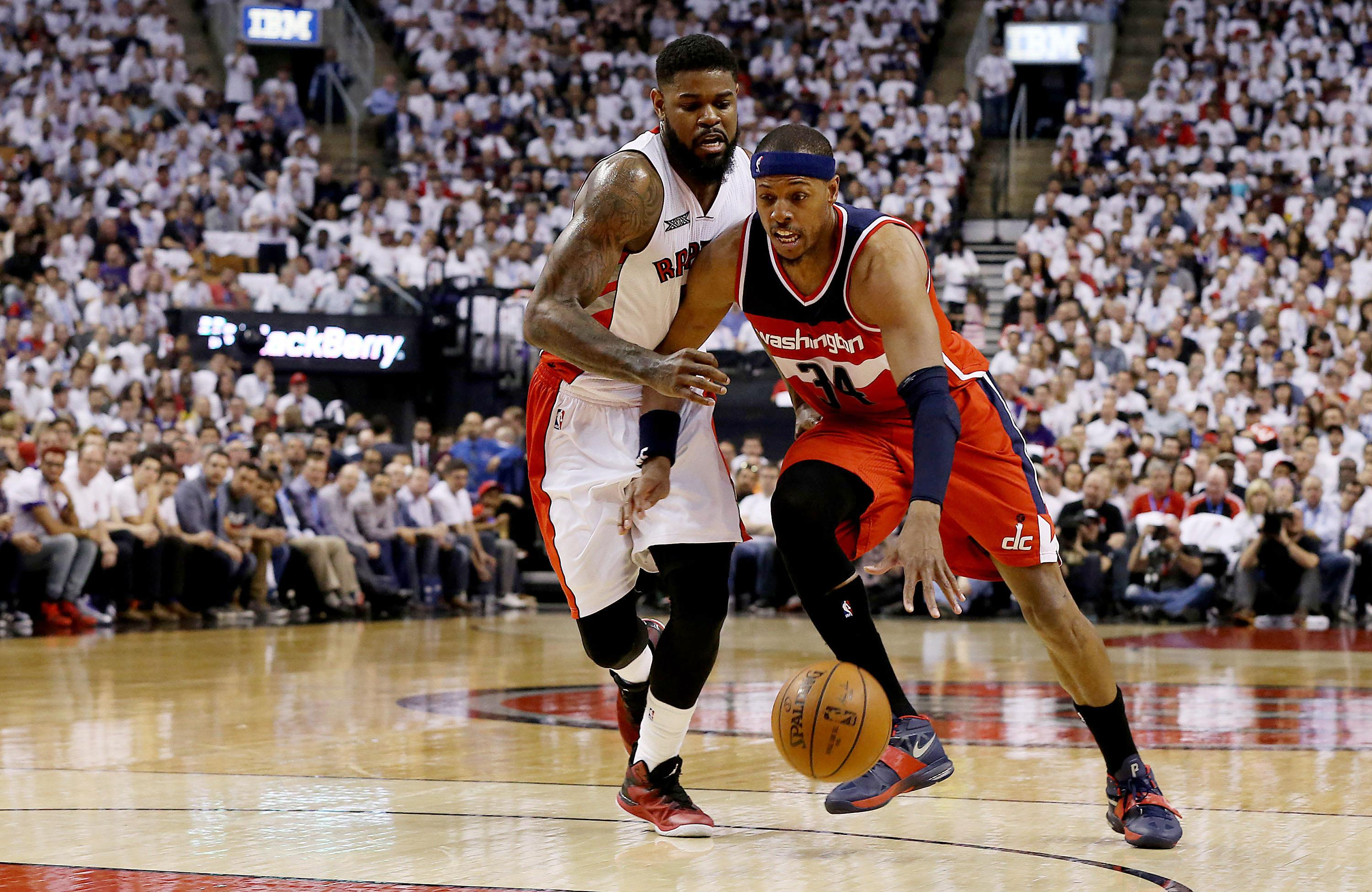 Wizards let Raptors back in, but win Game 1 in OT behind Paul Pierce