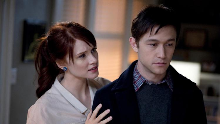 "This publicity film still released by Summit Entertainment shows Bryce Dallas Howard, left, and Joseph Gordon-Levitt, in a scene from the movie ""50/50."" (AP Photo/Summit Entertainment, Chris Helcermanas-Benge, File)"