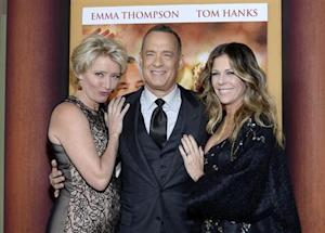 "Cast member Thompson, Hanks and his wife Wilson attend the film premiere of ""Saving Mr. Banks,"" at the Walt Disney Studios in Burbank"