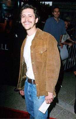 Premiere: Clifton Collins Jr. is blissfully unaware of the guy behind him drooling in anticipation of Jennifer Lopez at the Loews Cineplex Century Plaza premiere of New Line's The Cell - 8/17/2000