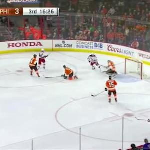 Steve Mason Save on Derick Brassard (03:35/3rd)