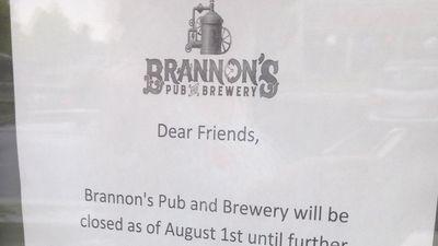 Brannon's Pub & Brewery May Have Brewed Its Last Batch