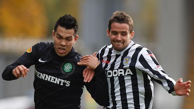 Lee Mair, right, is hoping to return to St Mirren colours in the Scottish Communities League Cup final