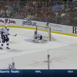 Ben Bishop Save on Aaron Ekblad (11:29/2nd)