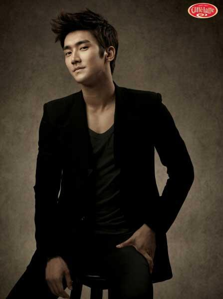 Super Junior's Choi Siwon Models for 'Caffe Latte'