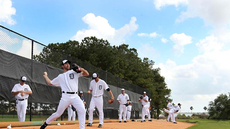 MLB: Detroit Tigers-Pitchers and Catchers