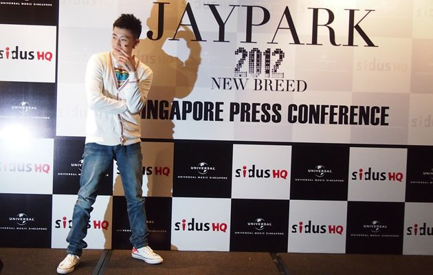 Jay Park talked about women, food and his abs at a press conference. Yahoo! Photo / Elizabeth Soh