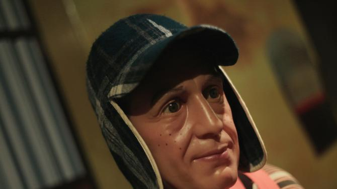 Wax figure of El Chavo del Ocho, portrayed by comedian Roberto Gomez Bolanos is seen at the wax museum in Mexico City