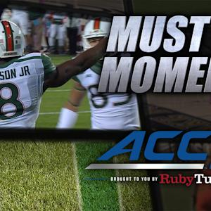 Miami's Duke Johnson Scores TD Right Before Halftime | ACC Must See Moment