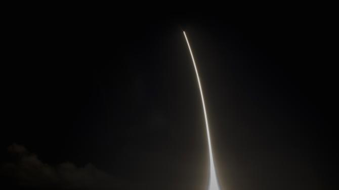 Falcon 9 rocket is launched by Space Exploration Technologies on its fourth cargo resupply service mission to the International Space Station, from Cape Canaveral Air Force Station in Florida