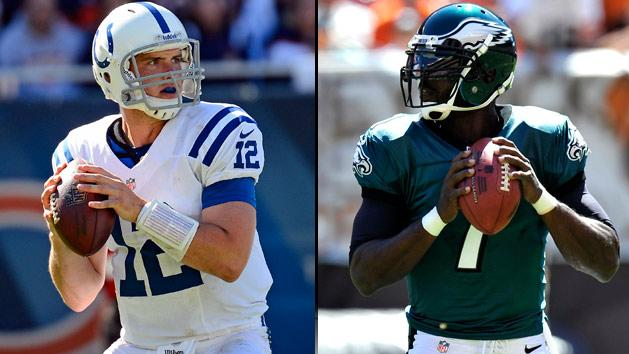 Andrew Luck and Michael Vick