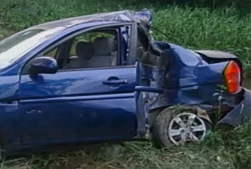 <p>The crashed car of Cuban dissident Oswaldo Paya is shown in this image from the Interior Ministry released by Cuban TV. Cuban dissidents cast fresh doubt Sunday on the Communist government's explanation of the death of Paya, who died last week in a car crash.</p>