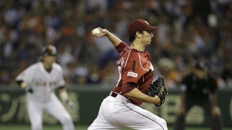 Giants beat Eagles 6-5 to even Japan Series