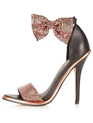 Sequined Bow Heel