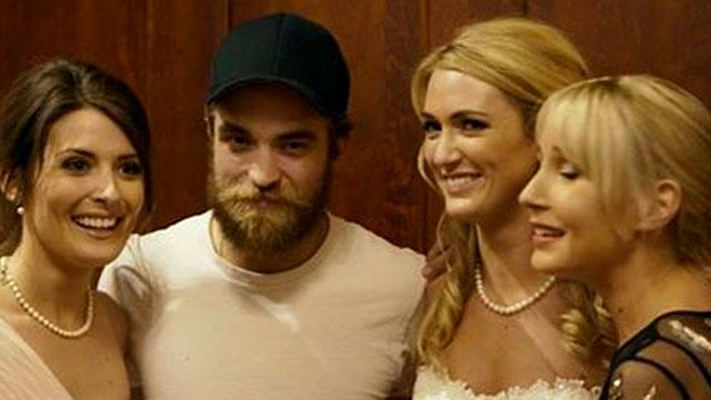 Scruffy Robert Pattinson Crashes a Wedding in Ireland -- See the Pics!