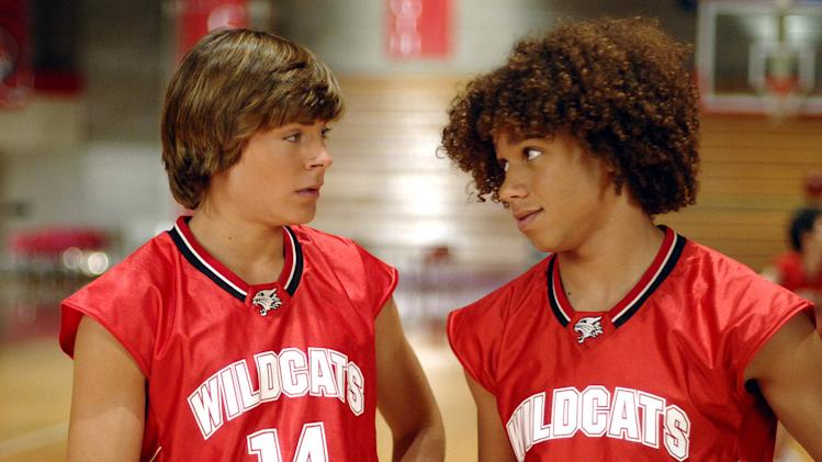 Zac Efron and Corbin Bleu star in High School Musical on the Disney Channel.