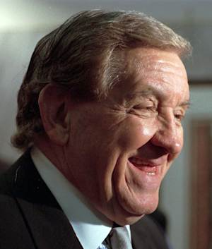 """FILE - This Feb. 5, 1998 file photo shows actor George Lindsey, who portrayed Goober in the television series """"The Andy Griffith Show"""". Lindsey, who died Sunday, May 6, 2012 at 83, studied at the prestigious American Theater Wing in New York City and appeared in several TV westerns as well as dramas such as """"The Twilight Zone"""" and """"Alfred Hitchcock Hour"""" before landing the role of Goober Pyle in 1964. Lindsey embodied the role of Mayberry's good-natured mechanic for seven straight seasons, four on """"The Andy Griffith Show"""" and three on its sequel, """"Mayberry R.F.D."""" To his fans, Lindsey would always be known as Goober, but friends and even casual acquaintances knew better than to confuse the man with his most famous part.(AP Photo/Montgomery Advertiser, Lloyd Gallman, File)"""