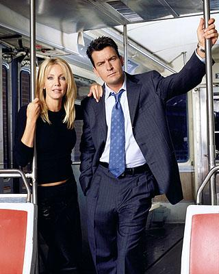 Heather Locklear and Charlie Sheen in ABC's Spin City Spin City