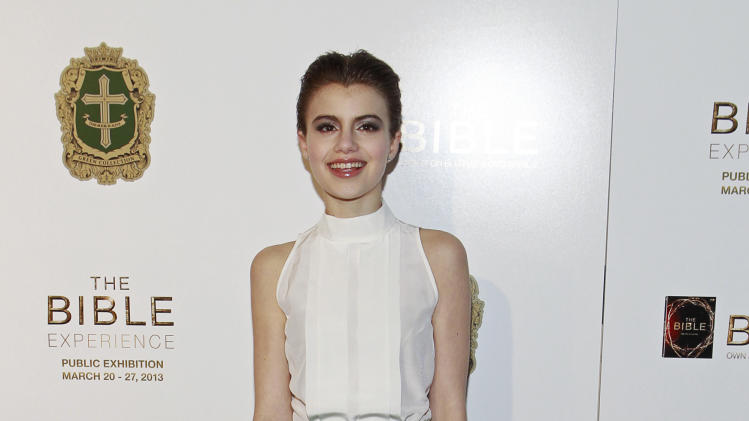 Actress Sami Gayle poses on the red carpet at the celebration of the April 2 Blu-ray, DVD, and Digital HD release of THE BIBLE from Twentieth Century Fox Home Entertainment  during The Bible Experience opening night gala, a rare exhibit of biblical artifacts on Tuesday, March 19 in New York. (Photo by Mark Von Holden/Invision for Fox Home Entertainment/AP Images)