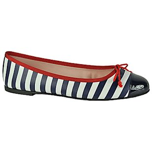 Stripe Detail Pumps Pretty Ballerinas: What To Wear: School Run