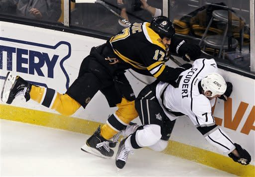 Marchand has 2 goals in Bruins' 3-0 win over Kings