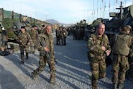 French soldiers arrive at military barracks in Kabul on November 20, 2012. France has flown its last combat troops out of Afghanistan, two years before allied nations in the 100,000-strong NATO mission led by the United States are due to recall their fighting forces