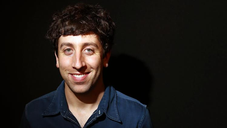"""In this Tuesday, May 7, 2013 photo, actor Simon Helberg poses for a portrait in Los Angeles. Helberg is a co-star of the CBS television show, """"The Big Bang Theory."""" (Photo by Matt Sayles/Invision/AP)"""