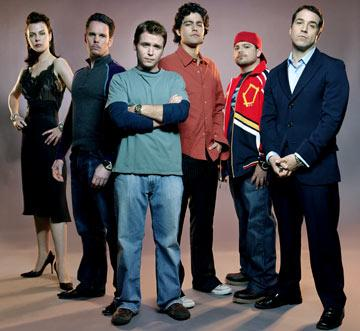 Debi Mazar, Kevin Dillon, Kevin Connolly, Adrian Grenier, Jerry Ferrara and Jeremy Piven HBO's Entourage