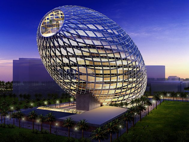 Egg-shaped building coming …